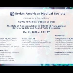 COVID-19 Clinical Update Course: The Role of Anticoagulation in COVID-19 Management
